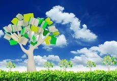 rezerwuje drzewa Zdjęcia Stock
