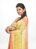rezerwuje dziewczyny hindusa potomstwa Zdjęcia Royalty Free