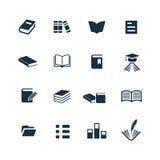 Rezerwuje ikony ustawiać Zdjęcia Stock