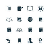 Rezerwuje ikony ustawiać Zdjęcie Stock