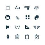 Rezerwuje ikony ustawiać Obraz Stock