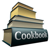 rezerwuje książka kucharska edukację Fotografia Royalty Free