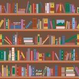rezerwuje półka na książki bezszwowy wzoru ilustracji
