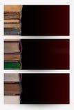 Rezerwuje sztandary obraz stock