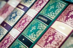 Rezerwuje tło Dekoracyjny książka kręgosłup Fotografia Stock