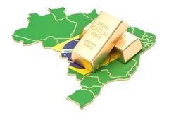 Rezerwy walutowe Brazylia pojęcie, 3D rendering Zdjęcia Stock
