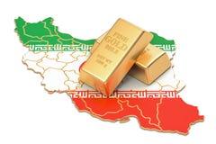 Rezerwy walutowe Iran pojęcie, 3D rendering Zdjęcie Royalty Free