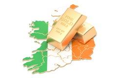 Rezerwy walutowe Irlandia pojęcie, 3D rendering Obraz Stock