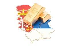 Rezerwy walutowe Serbia pojęcie, 3D rendering Obraz Stock
