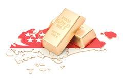 Rezerwy walutowe Singapur pojęcie, 3D rendering Fotografia Royalty Free