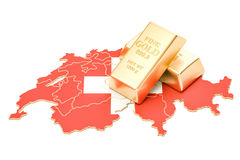Rezerwy walutowe Szwajcaria pojęcie, 3D rendering Obrazy Royalty Free