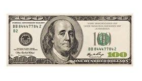 Rezession $100 Lizenzfreie Stockfotos