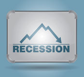 Rezession - busines Konzept Stockfotografie