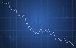 Rezessiondiagramm Lizenzfreies Stockbild