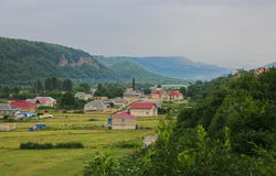 Rezidential area in Guba region of Azerbaijan Stock Photos