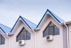 Rezidential building dormers detail Stock Photography