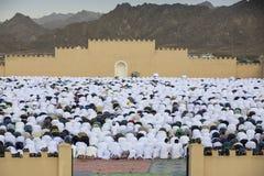 Rezo al inicio de Eid, día de fiesta musulmán de la salida del sol después de un mes Imagen de archivo