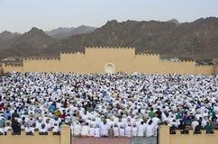 Rezo al inicio de Eid, día de fiesta musulmán de la salida del sol después de un mes Fotografía de archivo