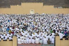 Rezo al inicio de Eid, día de fiesta musulmán de la salida del sol después de un mes Imagen de archivo libre de regalías