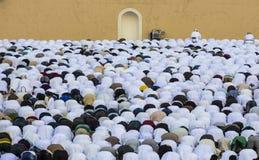 Rezo al inicio de Eid, día de fiesta musulmán de la salida del sol después de un mes Foto de archivo