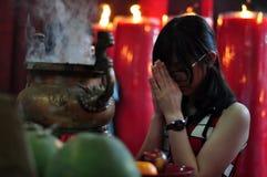 Rezo chino del Año Nuevo Imágenes de archivo libres de regalías