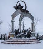 Rezo conmemorativo de Hetmans para Ucrania en Baturin imagenes de archivo