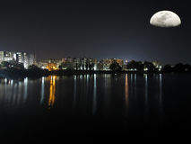 Rezo de la luna Fotografía de archivo