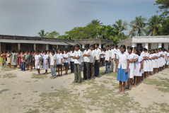 Rezo de los estudiantes de la escuela. Imágenes de archivo libres de regalías