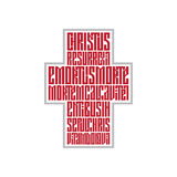 Rezo de Pascua bajo la forma de cruz Imagen de archivo libre de regalías