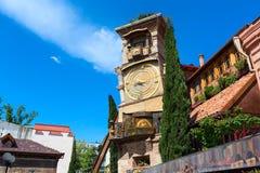 Rezo Gabriadze falling tower at Marionette Theatre square in Tbilisi, Georgia Stock Photo