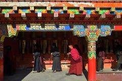Rezo-rueda budista Imagen de archivo libre de regalías