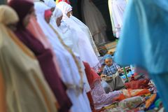 Rezos de Eid al-Adha Fotos de archivo