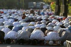 Rezos de Eid al Adha Imagenes de archivo