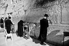 Rezos en Jerusalén Imágenes de archivo libres de regalías