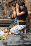 Rezos hindúes Fotos de archivo libres de regalías