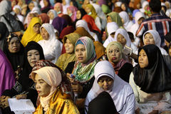 Rezos musulmanes Foto de archivo libre de regalías