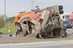 Rezultat karambol między dwa ciężarówkami zdjęcie stock
