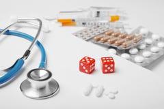Rezultaty testy przy lekark? Szansy dla traktowania zdjęcie stock
