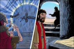Rezurekcja Chrystus royalty ilustracja