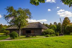 Rezydencja ziemska Adam Mickiewicz w wiosce Zaosye Bia?oru? zdjęcie royalty free
