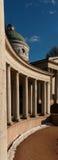 Rezydencja ziemska Arkhangelskoe grobowiec kolumnada Wiosna w parku obraz stock