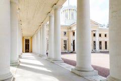 Rezydencja ziemska Arkhangelskoe Kolumnada pałac zdjęcia stock