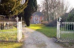 Rezydencja ziemska dom fotografia royalty free
