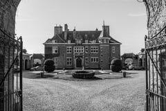 Rezydencja ziemska dom Lebioles, Manoir De Lebioles przy Creppe, zdrój, Belgia Zdjęcia Royalty Free