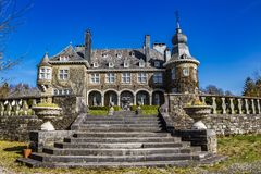 Rezydencja ziemska dom Lebioles, Manoir De Lebioles przy Creppe, zdrój, Belgia Obraz Stock