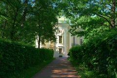 Rezydencja ziemska Kuskovo, Moskwa, Rosja Parkowy Kuskovo - nieruchomość Hrabiowski Sheremetev Architektoniczny i artystyczny zes Zdjęcie Royalty Free