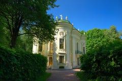 Rezydencja ziemska Kuskovo, Moskwa, Rosja Parkowy Kuskovo - nieruchomość Hrabiowski Sheremetev Architektoniczny i artystyczny zes Zdjęcia Royalty Free