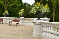 Rezydencja ziemska ogród i taras Obraz Royalty Free