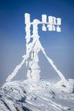 RF antennas on meteo station Royalty Free Stock Image