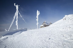 RF antennas on meteo station Royalty Free Stock Photography